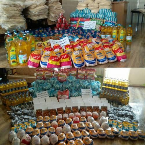 اهدای سبد غذایی در دو مرحله در ماه مبارک رمضان