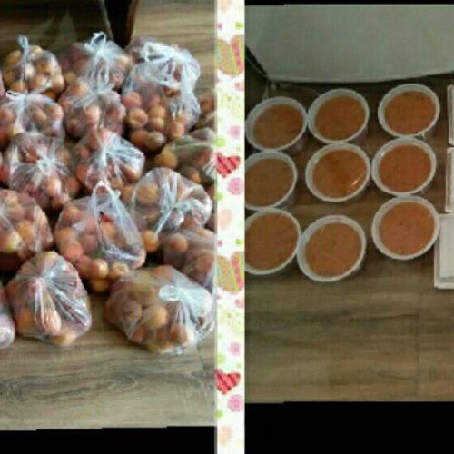 اهدای غذای گرم و میوه به مددجویان