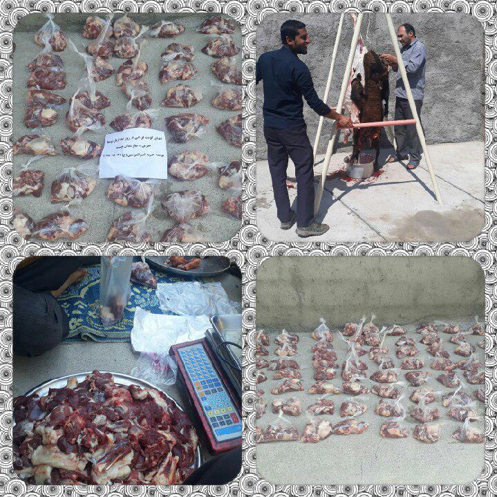 اهدای گوسفند و گوشت قربانی به مددجویان موسسه خیریه امیرالمومنین(ع) در عید قربان
