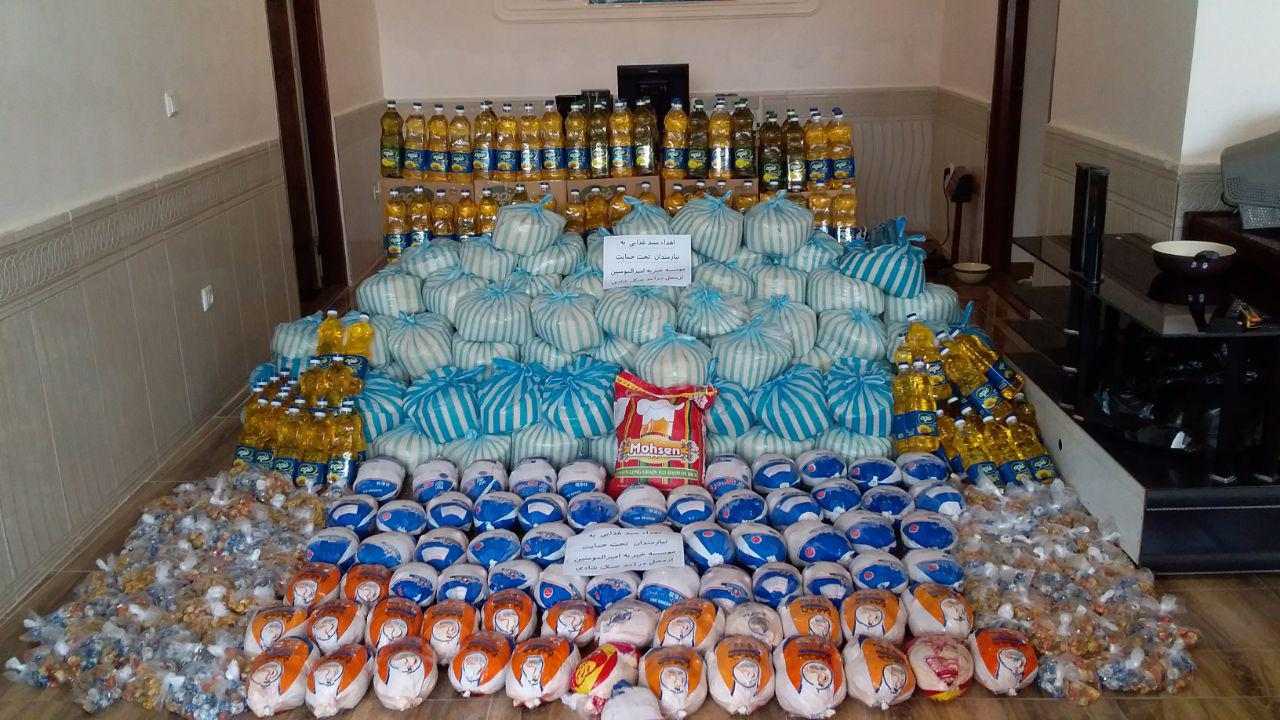 اهدای سبد غذایی با ارزشی بالغ بر 8 میلیون تومان